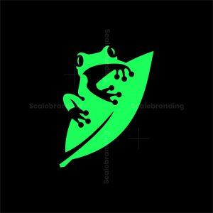 Iconic Frog On Leaf Logo