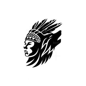 Indian Man And Wolf Logo