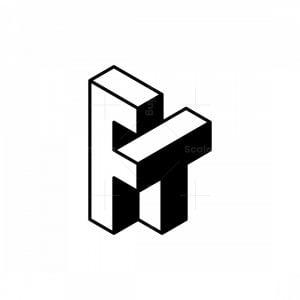 Isometric Ft Letter Logos
