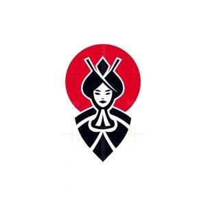 Japanese Geisha Logo