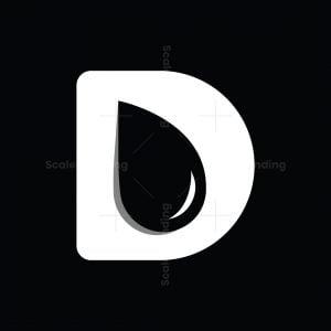 Letter D Droplets Logo