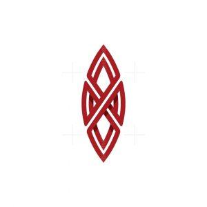Letter X Surfing Logo