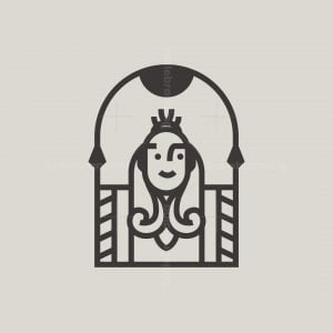 Lady Queen Crown Logo