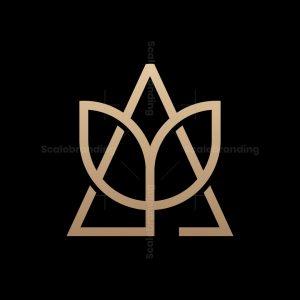 Letter A Flower Logo