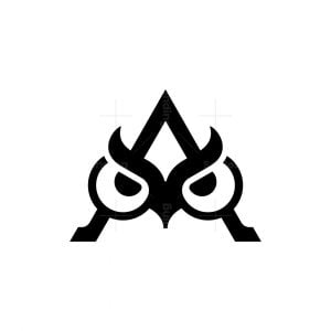 Letter A Owl Logo