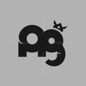 Letter Ag Cute Elephant King Logo
