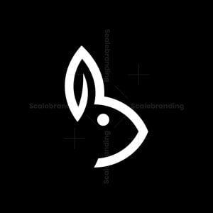 Letter B Bunny Logo