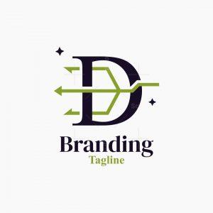Letter D Trident Logo