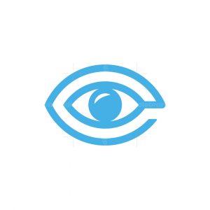 Letter E Eye Logo