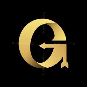 Letter G Golden Arrow Logo