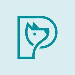 Letter P Dog Logo