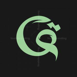 Letter Q And Arabic Qaf Logo