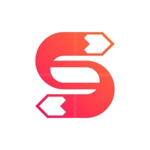 Letter S Fox Tail Logo