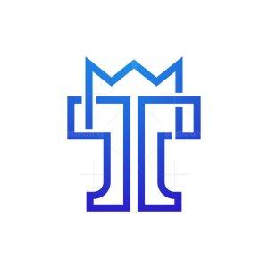 Letter T Crown Logo