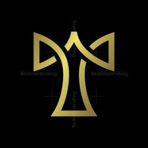 Letter T Golden Logo