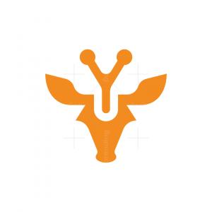 Letter Y Yellow Giraffe Logo