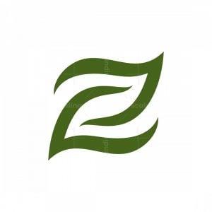 Letter Z Leaves Logo
