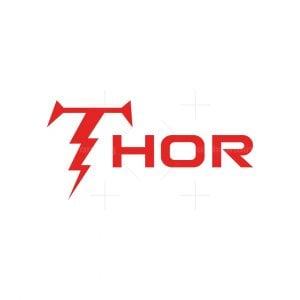 Lightning Letter T Thor Logo