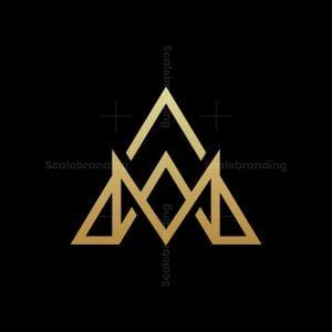 Luxury Letter A Crown Logo