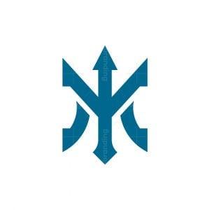 Letter M Trident Logo