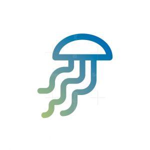 Marine Jellyfish Logo