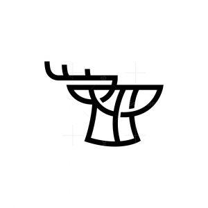 Minimalist Deer Logo
