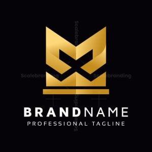 Golden M Letter Logo