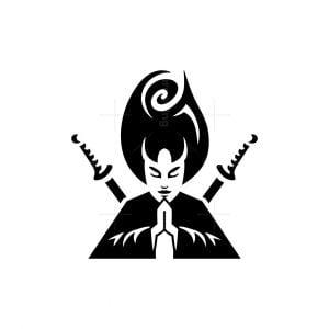 Rose Hair Samurai Woman Logo