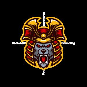 Samurai Wolf Mascot Logo