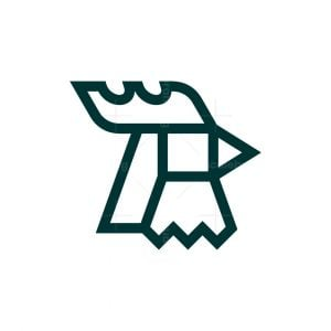 Simple Head Rooster Logo