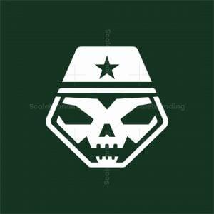 Soldier Skull Logo