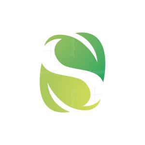 Spring Leaves Letter S Logo