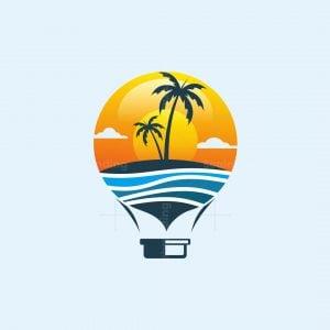Summer Beach Balloon Logo