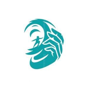 Surfer Hand Logo