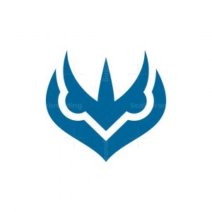 Trident Owl Head Logo