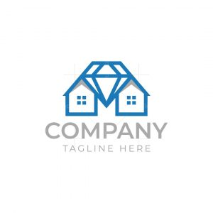 Two House And Diamond Logo