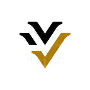 Letter V Verification Logo