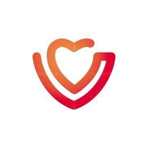 Vital Heart Letter V Logo
