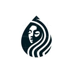 Water Drop Woman Logo