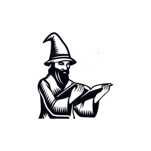 Wizard With Book Logo