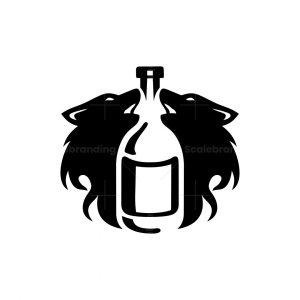Wolves And Bottle Logo