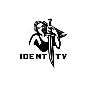 Woman With Sword Logo