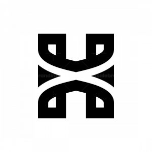 Xh Or Hx Letter Logos