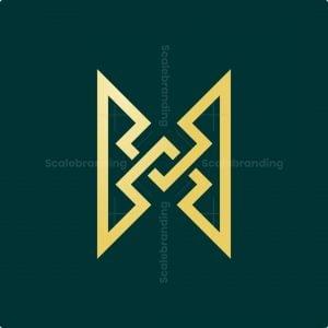 Zig Zag Letter H Monogram Logo