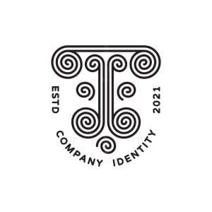Antique T Monogram Logo