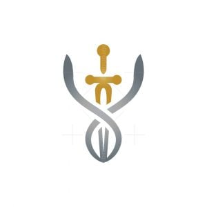 Sword Caduceus Logo