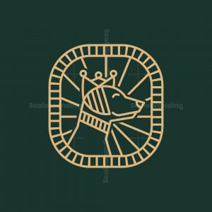 Dog King Line Art Logo