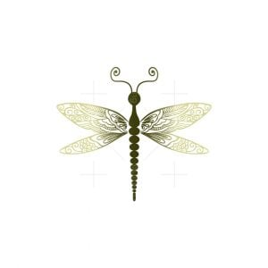 Dragonfly Wings Design Logo