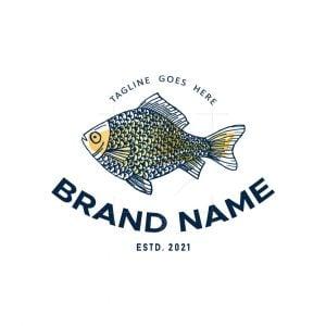 Vintage Seafood Fish Logo