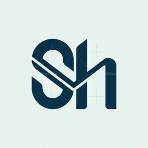 Sh Monogram Letter Logo